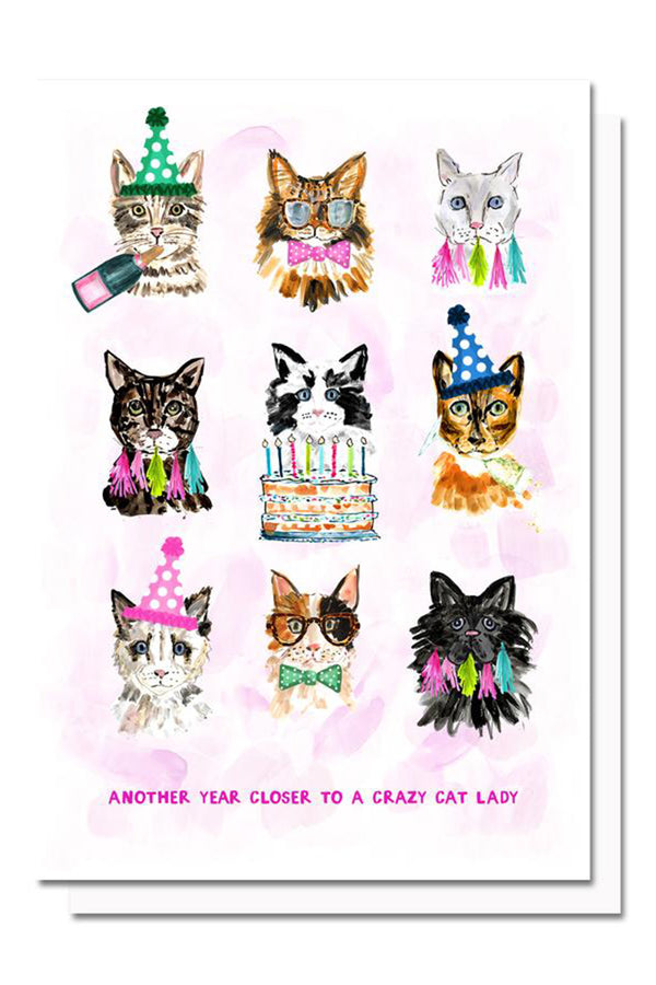 EVH Greeting Card - Cat Lady