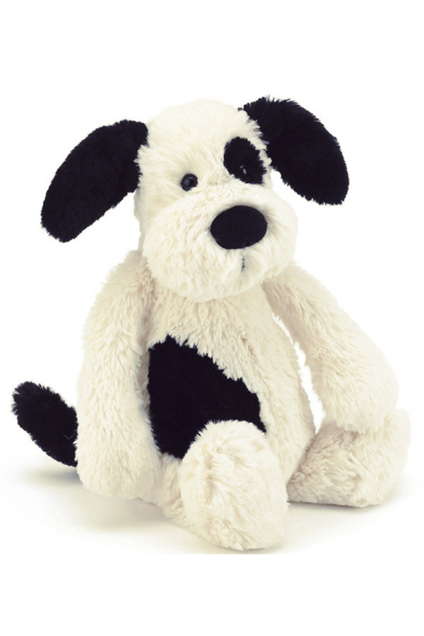 Bashful Puppy - Black & Cream