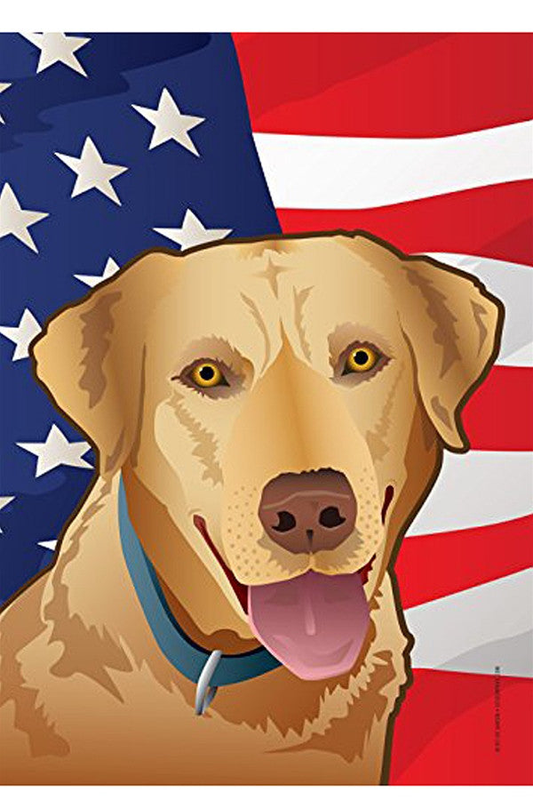 Large House Flag - USA Yellow Lab  - YELLOWLAB
