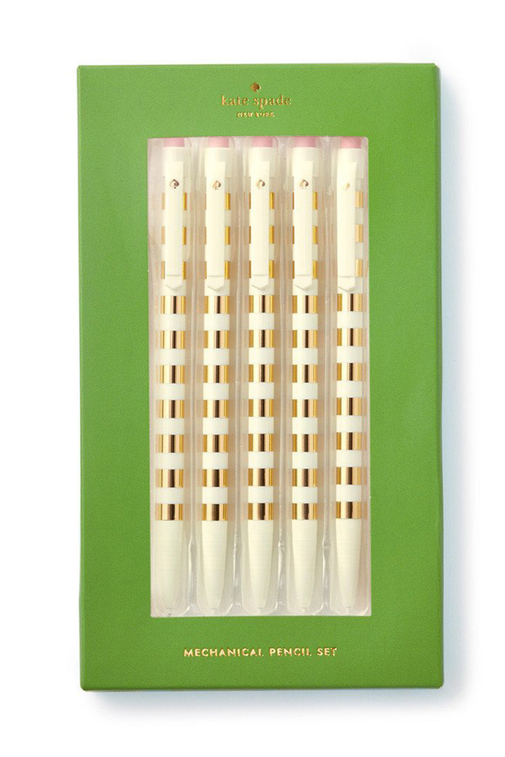 Preppy Kate Spade Mechanical Pencil Set - Gold Stripe