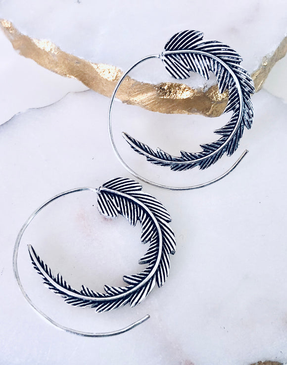 Loop Feather Earrings