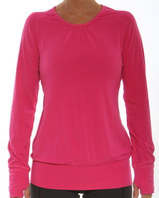 cerise pink performance lifestyle long sleeve