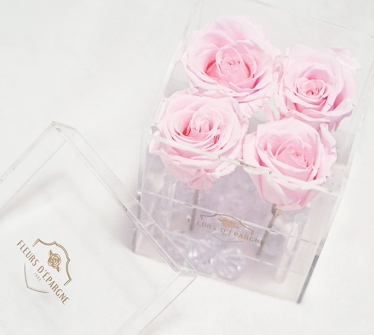 Jumbo 4 Rose Crystal Box - 3 Years