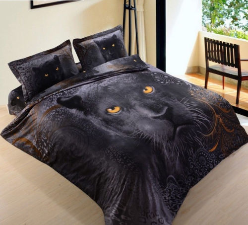 BLACK PANTHER QUILT DOONA COVER Double Bed Bedroom Home Decor - the-bowerbirds-nest-of-treasures