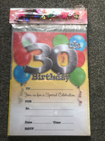 30th Birthday Invitations with Envelopes & Scatters - the-bowerbirds-nest-of-treasures