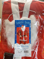 Christmas Xmas Adult Unisex Red Santa Claus Suit One Size Party Costume - the-bowerbirds-nest-of-treasures