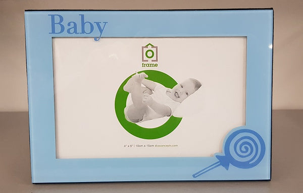 BABY BOY PICTURE PHOTO FRAME HOLDS 4X6 PHOTO Christening Baby Shower Gift Idea - the-bowerbirds-nest-of-treasures