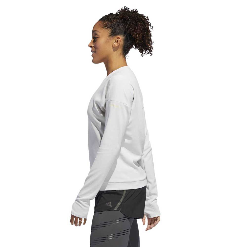 Supernova Run Cru Sweatshirt (W) - White/Raw
