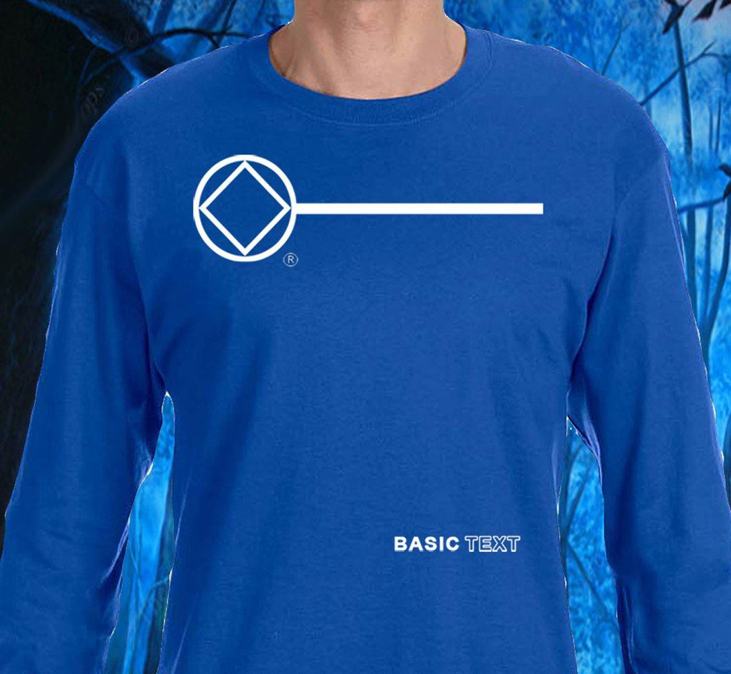 LST - Basic Text - Blue Long Sleeve