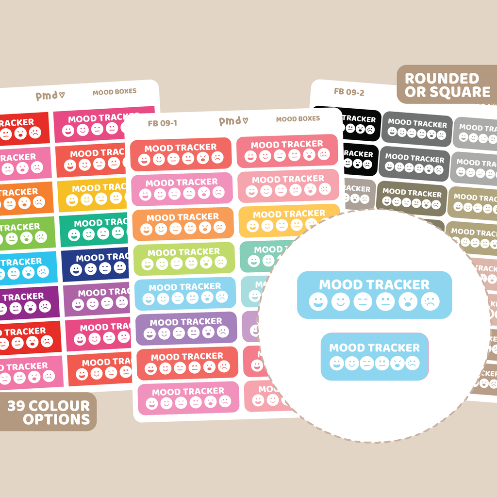Drop Off/Pick Up Box Stickers | Rounded Event Box | FB09