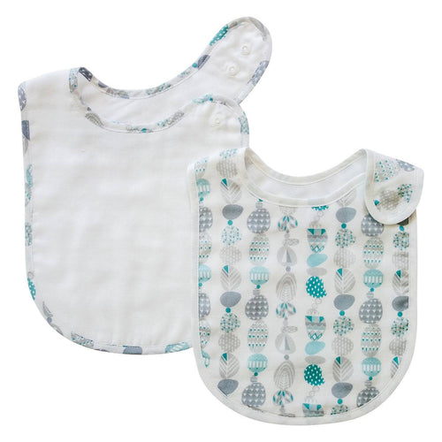 Pikku Baby | Classic Bib Set | Muslin Drool Bibs | Painted Stones Collection