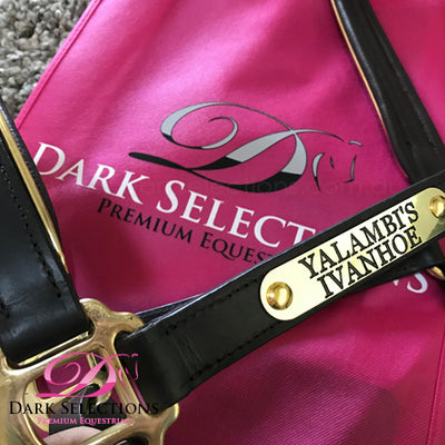 Leather Halter + Engraved Name Plate