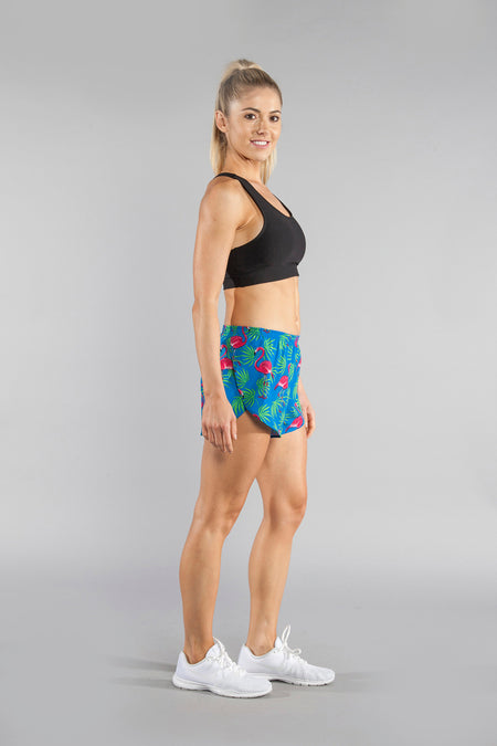 "WOMENS 1"" ELITE SPLIT RUNNING SHORT- NAVY"