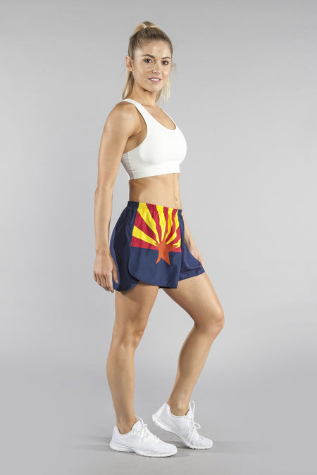"WOMEN'S 1.5"" SPLIT TRAINER SHORT- DON'T TREAD ON ME"