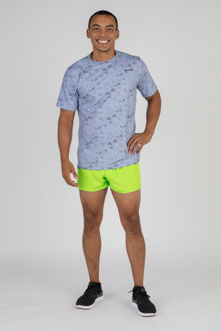 MEN'S HYPERSOFT SHORT SLEEVE RUNNING SHIRT- ILLUSION ELECTRIC