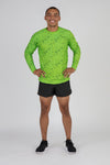 MENS HYPERSOFT LONG SLEEVE RUNNING SHIRT- ILLUSION LIME