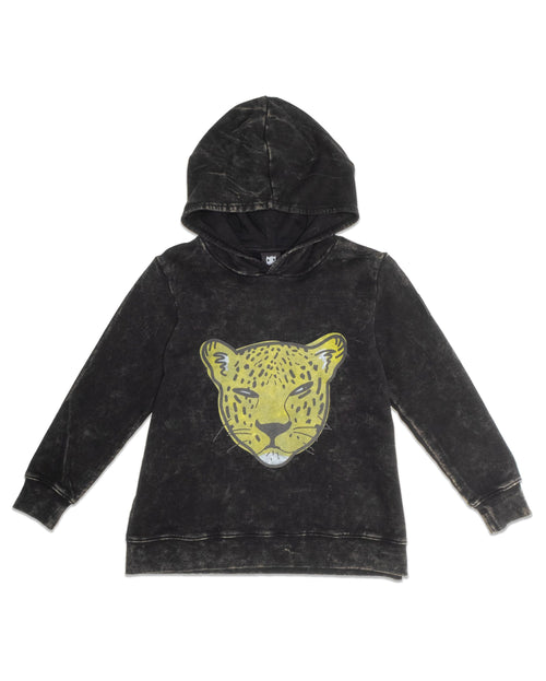 Leopard Face A Line Hooded Crew
