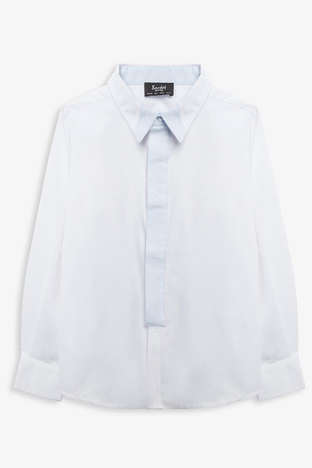 Contrast Placket Shirt 4-7
