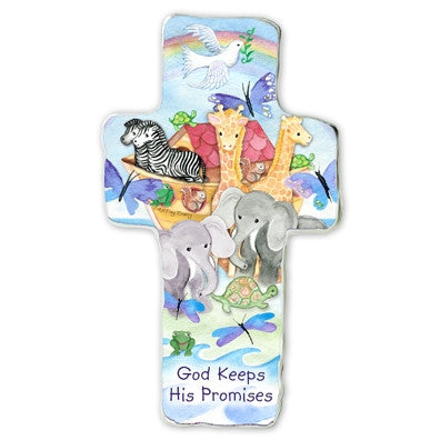 God Keeps His Promise Metal Cross Plaque