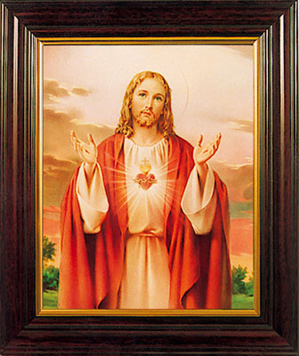 "Sacred Heart 8 x 6"" Framed"