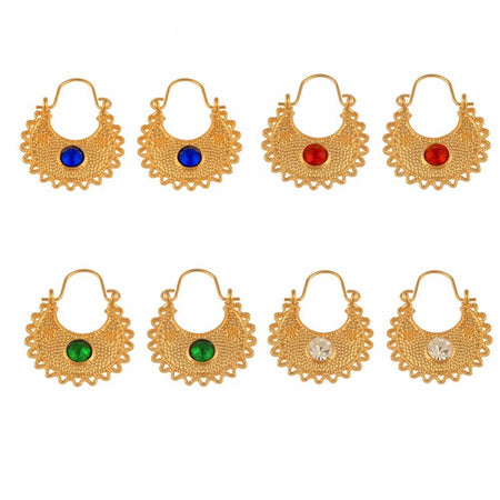 Ethiopian Gold Color Earrings for Women & Girls - African Style Jewelry