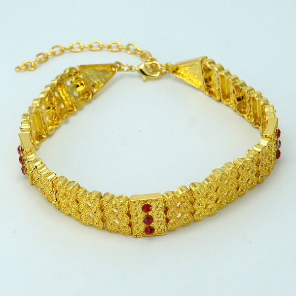 Gold Color Ethiopian Traditional Chokers Necklace For Women - African Style Jewelry