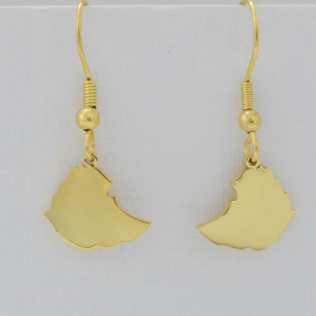 Small Size Ethiopian Map Earrings for Women/Girl - African Style Jewelry
