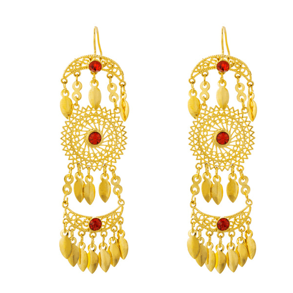 Ethiopian Gold Color Drop Earrings - African Style Jewelry