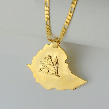 Ethiopian Map Pendant - African Style Jewelry