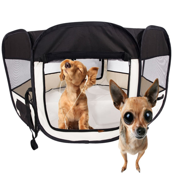 "45"" Portable Foldable Pet Playpen"
