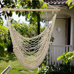 Hanging Rope Hammock Chair for Yard, Bedroom, Porch, Beach, Indoor, Outdoor Max. 330 Lbs