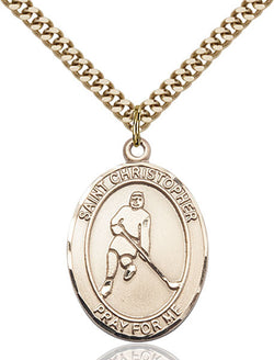 St. Christopher/Ice Hockey Medal - FN7155GF24G