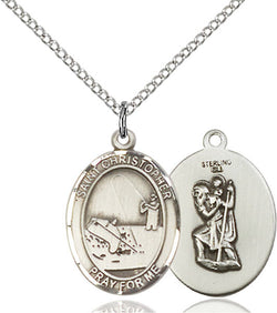 St. Christopher / Fishing Medal - FN8196SS18SS