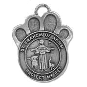 St. Francis of Assisi Pet Medal - WOSB4105