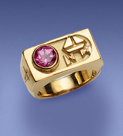 Bishop's Amethyst and 14k Gold Ring - DO4375