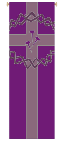 CROWN OF THORNS, NAILS BANNER  - WN7154