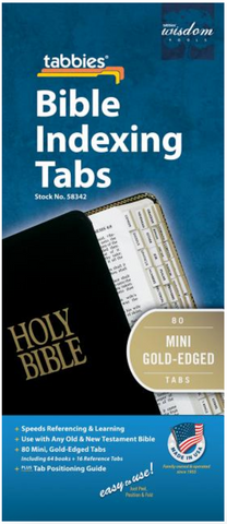 Bible Tab: Mini-Old & New Testament Gold Edge - 084371583423