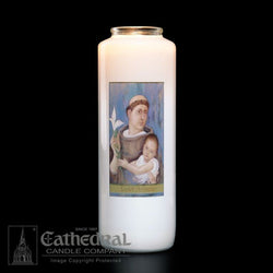 Patron Saint Glass 6 Day Candles - St. Anthony - GG2107