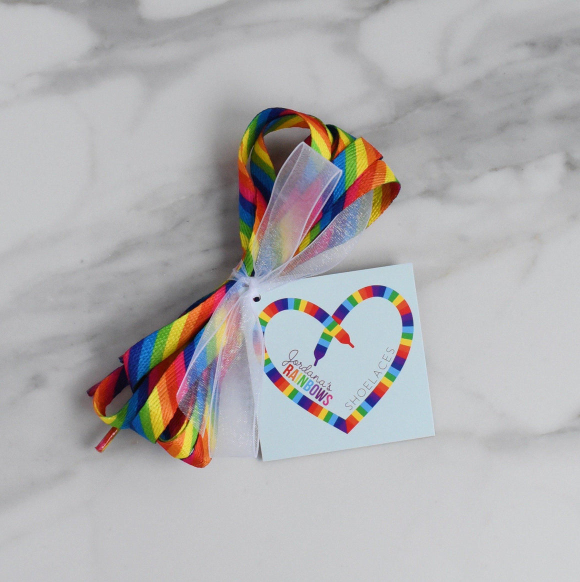 ACCESSORIES - RAINBOW SHOELACES, ACCESSORIES, Shop Love and Above - Bon + Co. Party Studio