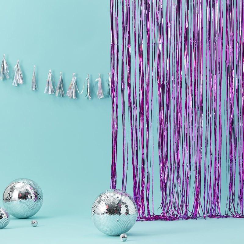 BACKDROP - FRINGE CURTAIN HOT PINK, Buntings, GINGER RAY - Bon + Co. Party Studio