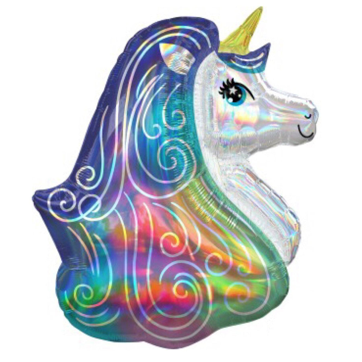 BALLOONS - UNICORN 2a HEAD HOLOGRAPHIC, Balloons, Anagram - Bon + Co. Party Studio