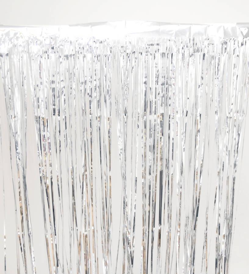 BACKDROP - FRINGE CURTAIN SILVER, Hanging decor, SKS - Beistle Co - Bon + Co. Party Studio