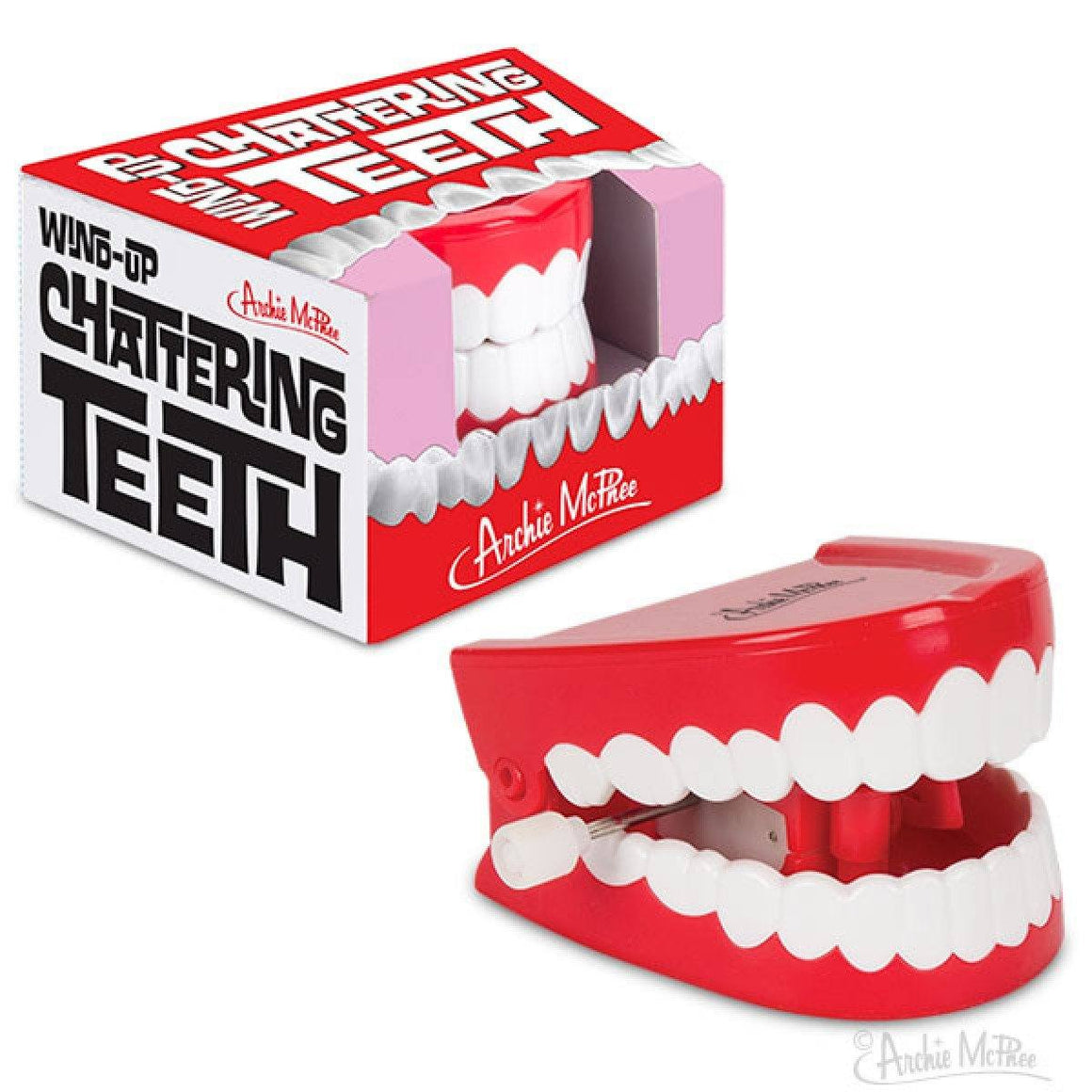 FAVOURS - WIND-UP CHATTERING TEETH ** Sale **, FAVOURS, ACCOUTREMENTS / ARCHIE MCPHEE - Bon + Co. Party Studio