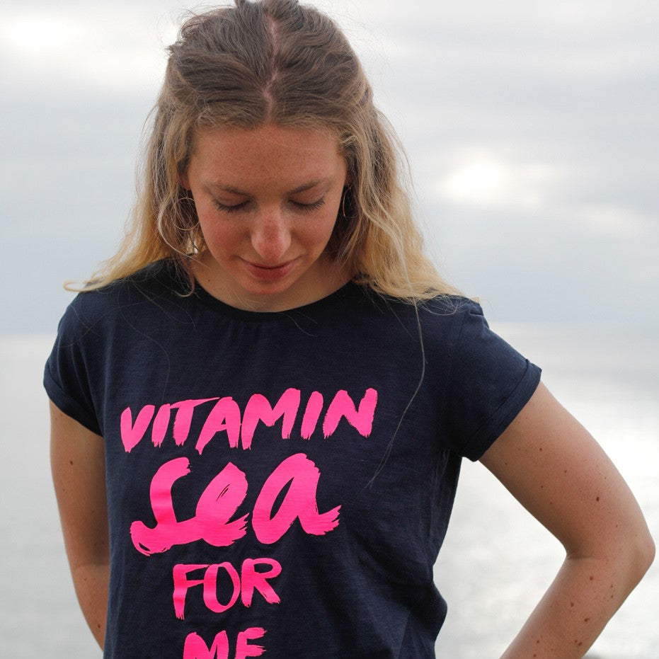 "Frauen T-Shirt ""Vitamin Sea for me"" neon 