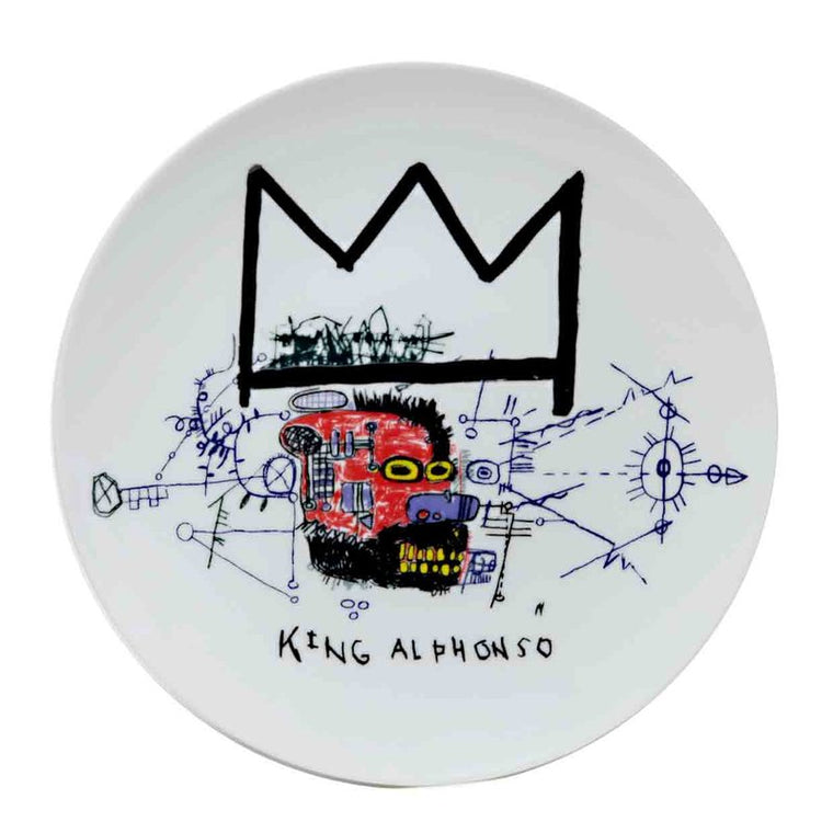 King Alphonso Plate by Jean-Michel Basquiat