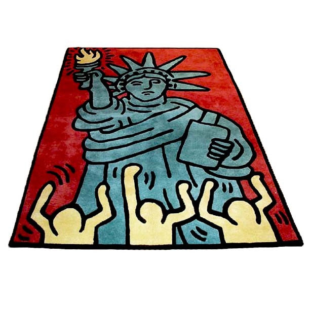 Statue of Liberty Rug by Keith Haring