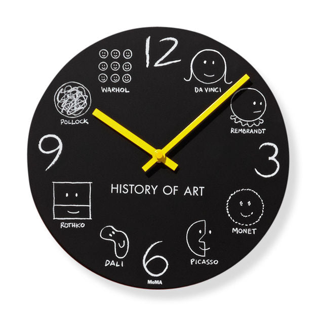 History of Art Wall Clock by Donald Seitz