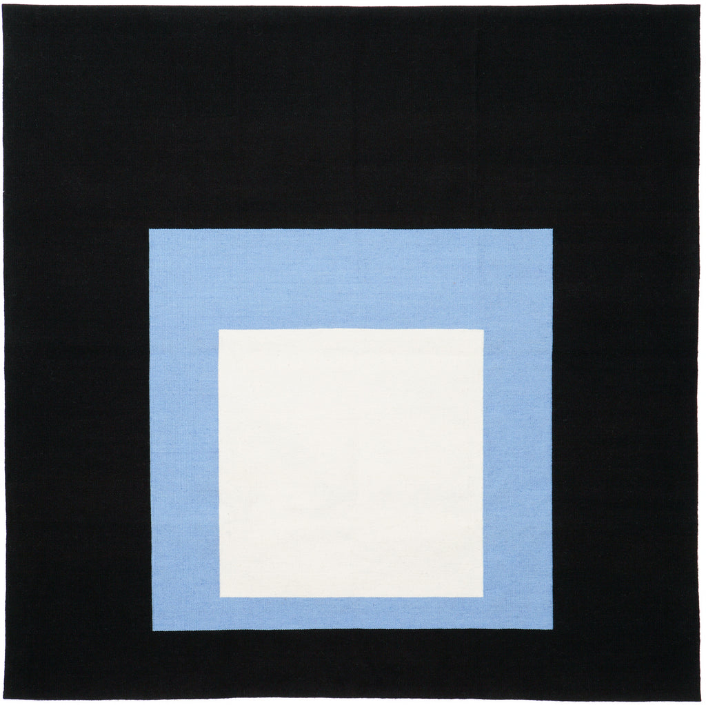 Homage to the Square: Black Setting (Tapestry) by Josef Albers