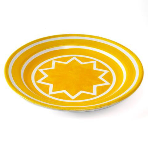 10 Point Star Within 3 Circles platter by Sol LeWitt