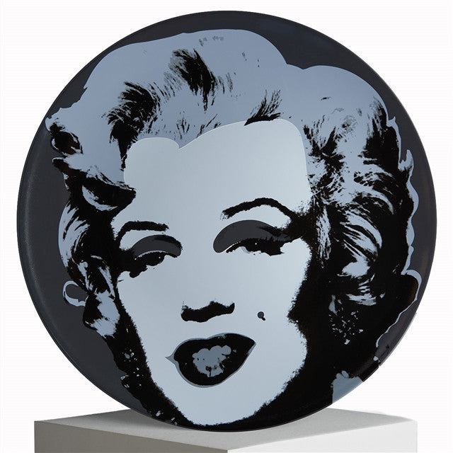 Marilyn Plate (Black) by Andy warhol